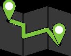 map black green